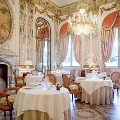 Hotel Le Meurice, 228 Rue de Rivoli in Paris.  Jazz duo plays nightly in the BAR 228, next to the restaurant.