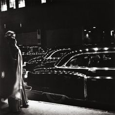 Gala Opening of the Metropolitan Opera, New York, 1950. Photo by Eve Arnold.  A lot of shiny Cadillacs in this picture.