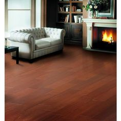 Brazilian Cherry Smooth Tongue and Groove Engineered Hardwood - 3/8in. x 5in. - 100498237   Floor and Decor