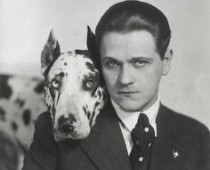 Eugeniusz Bodo with his dog Sambo, photo: Jerzy Benedykt Dorys/Biblioteka Narodowa Polona Polish Films, Sound Film, Russian Red, Cinema Theatre, Culture Pop, Hey Gorgeous, Bodo, Film Studio, Silent Film