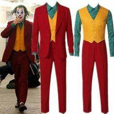 2019 Movie Joker Joaquin Phoenix Arthur Fleck Cosplay Costume Suits Halloween Mask Wigs for kids Adults Cosplay Joker, Female Joker Costume, Villain Costumes, Joker Halloween, Halloween Cosplay, Halloween Costumes, Couple Halloween, Joaquin Phoenix, Joker Suit