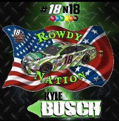 Nascar Race Cars, Indy Cars, Kyle Bush, Kyle Busch Motorsports, Kyle Busch Nascar, Flag Background, Sports Baby, Dad Day, Cars