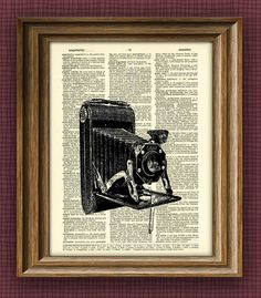 Antique BELLOWS CAMERA print over an upcycled by collageOrama, $6.99