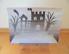 materialwiese: Kunst: Fantasieschloss im Nebel