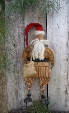My Primitive PINELANE NICHOLAS Santa Pattern-Instant Download