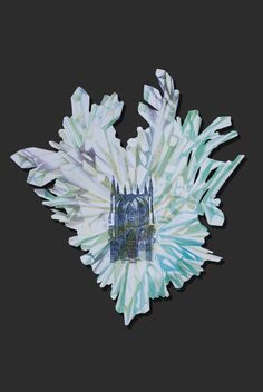 """Lapis Philosophorum"" - The Mineral Resonance by G&K Lusikova #alchemy #architecture #art #contemporaryart #paper #etching #crystal #science #heart #green"