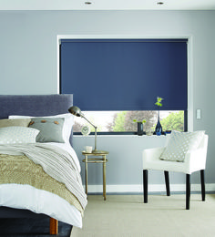 Roller Blinds 2017/2018 by Louvolite® - Carnival- Bretton Blue. Taken from the Heritage Carnival collection of plain fabrics.