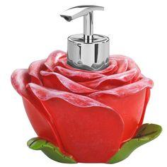 Dozownik do mydła ROSE - pięknie wykonany, bardzo charakterystyczny.