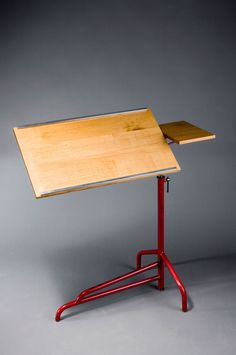 Jean Prouvé; Enameled Steel and Plywood Lectern, 1936.