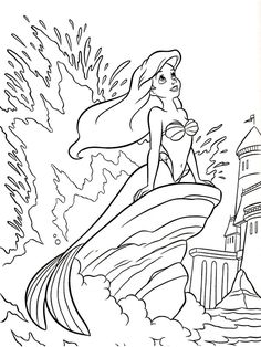 Disney Little Mermaid Coloring Pages. 20 Disney Little Mermaid Coloring Pages. Coloring Pages Of Ariel the Little Mermaid Disney Princess Ariel Coloring Pages, Mermaid Coloring Book, Disney Princess Coloring Pages, Disney Princess Colors, Disney Colors, Coloring Pages For Girls, Cartoon Coloring Pages, Coloring Book Pages, Free Coloring