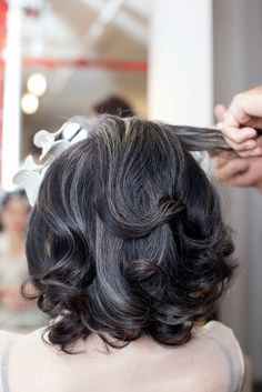 Add gray/silver high lights when growing out color to blend the line between…