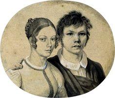Das Ehepaar um 1810, Zeichnung von Karl Friedrich Schinkel (Ehefrau Susanne)