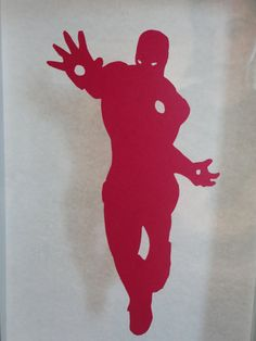 Ironman Silhouette Papercut 4.5x7 RED by FinalCutArtDesign on Etsy, $5.00