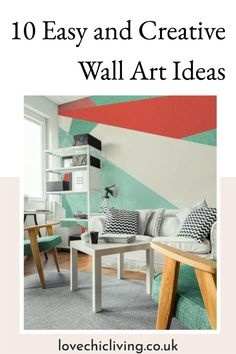 10 Fun and creative ways to add wall art to your walls! Our favourite DIY Crafts for home decoration and wall art! We wanted to show you some creative wall art designs to help inspire your to get crafty and make your very own wall art for your home! #lovechicliving Modern Wall Decor, Diy Home Crafts, Wall Art Designs, Home Decor Inspiration, Wall Collage, Home Accessories, Home And Family, Walls, Inspire
