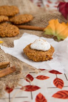 Pumpkin Spice Quinoa Breakfast Cookies  by Skinnytaste