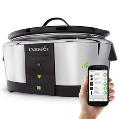 Compare Crock-Pot Wifi-Controlled Smart Slow Cooker Enabled by WeMo, Stainless Steel, prices online and save money. Find the lowest price on your favorite Crock-Pot Wifi-Controlled Smart Slow Cooker Enabled by WeMo, Stainless Steel, now. Kitchen Tools, Kitchen Gadgets, Kitchen Dining, Test Kitchen, Kitchen Products, Smart Kitchen, Kitchen Things, Kitchen Utensils, Kitchen Ideas