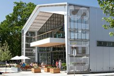 SHED Store and Café, Healdsburg, Calif., by Jensen Architects. Prefab Buildings, Agricultural Buildings, Shop Buildings, Metal Buildings, Factory Architecture, Architecture Design, Healdsburg Shed, Industrial Sheds, Garage Guest House