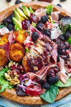 Sunny-Festival Salade met gegrilde kip en een kleurrijke fruit-dressing Als rasechte carnivoor…