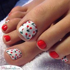 Pretty Toe Nails, Cute Toe Nails, Cute Nail Art, Pretty Toes, Cute Toes, Pedicure Nail Art, Pedicure Colors, Toe Nail Color, Nail Colors