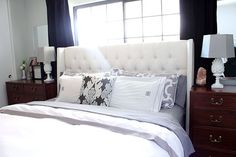 Copy cat chic bedroom redo pillows