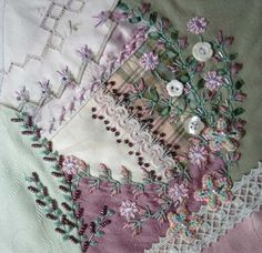Remarkable embroidery by Sharon B of the blog Pin Tangle.