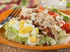 Brown Derby Cobb Salad - Here's an All-American salad favorite that's got all the fixin's including, chopped egg, bacon, chicken, tomatoes, and more!