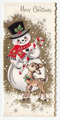 So many of these cards I remember. My Mother would send out hundreds of cards each year, each with a handwritten note. Cards came in huge assortments, secular  or religious plus a special box for Jewish  friends. My job was picking a card from the right box. Christmas memories.