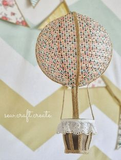 Hot Air Balloon - Party Decor, diy, craft featured on DETAILS