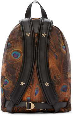 Givenchy: Multicolor Feather Print Backpack | SSENSE