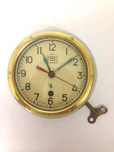 acb10299e30d Vintage Brass Rimmed Russian Vostok Submarine Clock £270.00 (ex VAT) Old  Lights,