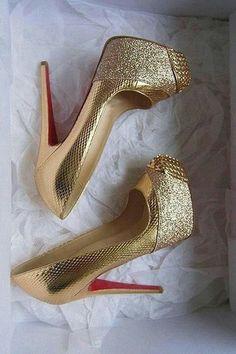 christian louboutin 'maggie' glitter pumps.  #shoeporn