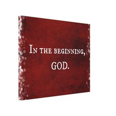 In the beginning, God Scripture Quote Gallery Wrap Canvas #faith