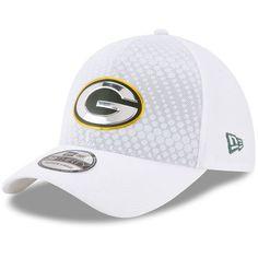 Men s Green Bay Packers New Era White 2017 Color Rush 39THIRTY Flex Hat 9d3d22d9827