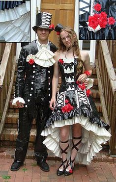 """The perfect outfit for the Mother of the Groom and her """"oh so stylish husband"""".  And it includes duct tape - every man's dream!"""