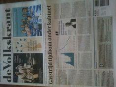 12.2.15 Proefabonnement op de Volkskrant is weer begonnen. :-)