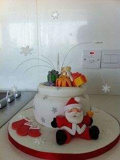 Christmas fondant cake toppers