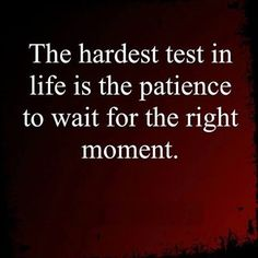 wait to the right moment life quotes quotes quote life wise advice wisdom life lessons patience instagram quotes