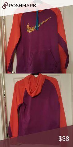 Nike hoodie Purple and orange, very cute!  Like new!! Nike Tops Sweatshirts & Hoodies