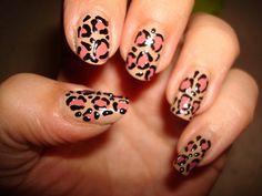 manicura moderno salvaje piel leopardo ideas