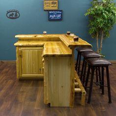 Cedar Custom Made for You Log Bar - JHE's Log Furniture Place