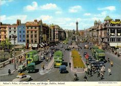 This is a image of Dublin from a post card found in someones house clearout recently. date unknown but Nelsons Pillar is still standing. Dublin Ireland, Ireland Travel, Old Pictures, Old Photos, Photo Engraving, Ireland Homes, Dublin City, Emerald Isle, Old Postcards