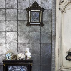 Buy Silver, Cole & Son Kings Mirror Wallpaper from our Wallpaper range at John Lewis & Partners. Free Delivery on orders over Mirrored Wallpaper, Tile Wallpaper, Metallic Wallpaper, Designer Wallpaper, Wallpaper Ideas, John Lewis, Marimekko Wallpaper, Cole Son, Mirror Paper