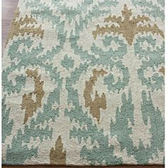 @Overstock - This area rug rug is crafted with easy-to-clean yarns that prevents shedding, unlike wool. This area rug features a variety of modern shades that will enhance your decorative scheme.http://www.overstock.com/Home-Garden/Handmade-Luna-Ikat-Rug-5-x-8/6208891/product.html?CID=214117 $164.99