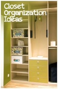Ideas for all closet sizes. Great storage ideas!