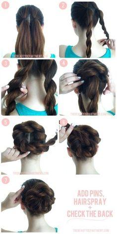 awesome Braided Bun Hair Tutorial... by http://www.danazhairstyles.xyz/hair-tutorials/braided-bun-hair-tutorial/