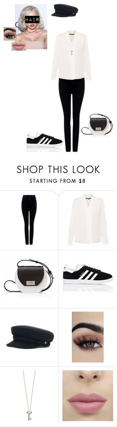 """""""School outfit #19"""" by weber-350 on Polyvore featuring Citizens of Humanity, Kobi Halperin, Joanna Maxham, adidas, Roberto Coin, school, white, black and sassy"""