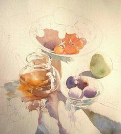 静物画の描き方1(序盤) : 福井良佑の水彩画 Watercolor Terrace