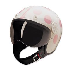 HCI-15 Lady Bug White and Pink Open Face Helmet | 130-0170