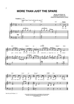 """More Than Just The Spare"" from 'Frozen' Sheet Music: www.onlinesheetmusic.com"