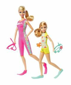 Barbie Sisters Snorkel Fun Barbie and Stacie Doll 2-Pack by Mattel. $25.00. A must have in every girls Barbie collection. 2-pack includes Barbie and Stacie dolls and accessories. Collect both sets of Barbie Sister 2-Packs, to reunite all 4 sisters together. Barbie and Stacie in their own individual fashion and style. Includes snorkel gear, flippers, and a souvenir starfish. From the Manufacturer                Barbie Sisters 2-Pack Collection: Barbie and her sisters ar...